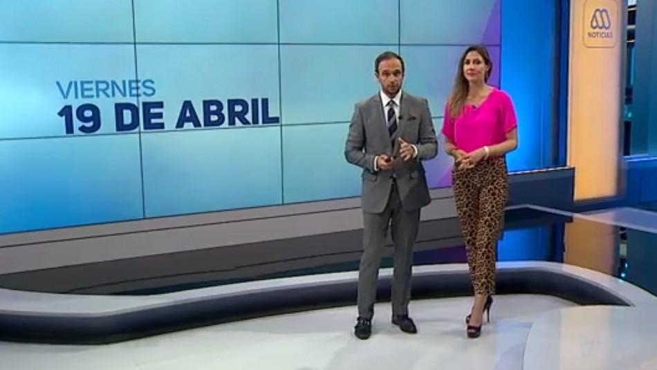 Ahora Noticias Central 19 de abril