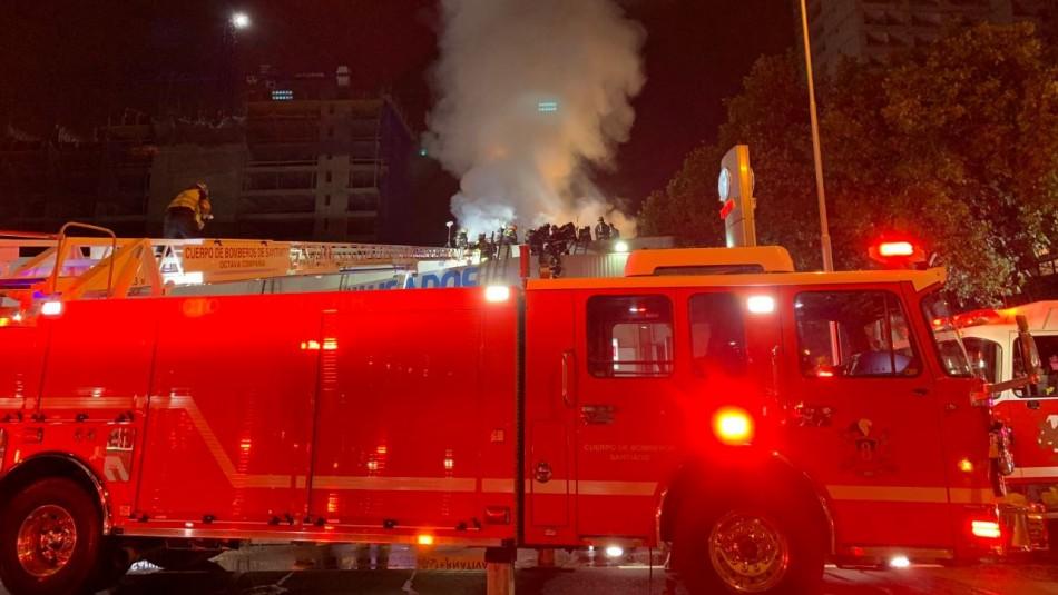 Incendio en Ñuñoa / Twitter