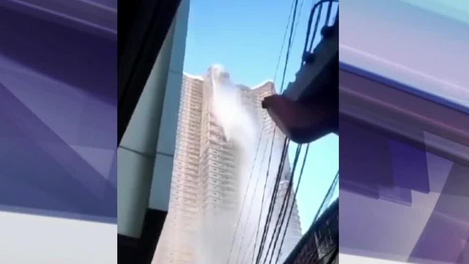 Terremoto en Filipinas: Video del estremecedor momento en que se quiebra piscina de un rascacielos