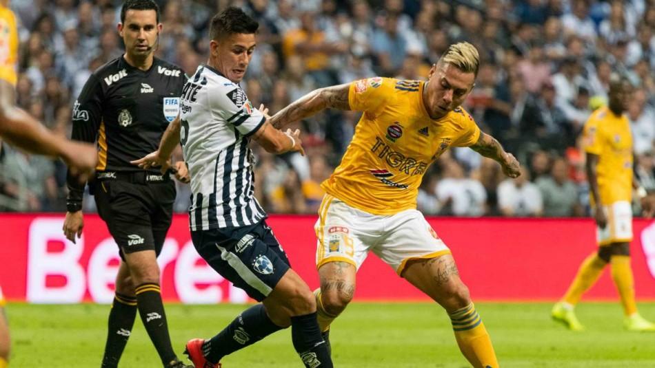 Tigres de Eduardo Vargas no pudo con Monterrey en la final de ida de Concachampions / Archivo.