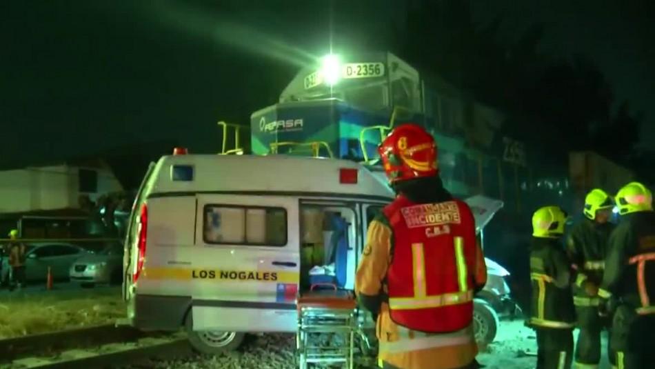 [VIDEO] Un lesionado grave tras colisión entre ambulancia y tren de carga en Estación Central