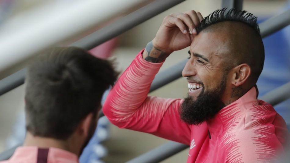 Vidal dio su apoyo a Cristián Garín. / AFP