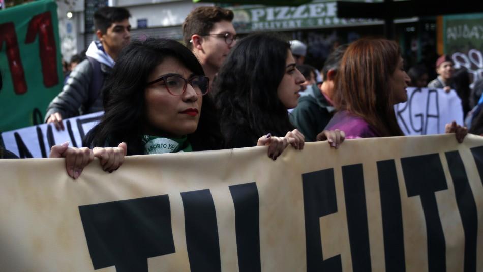 Este jueves se llevó a cabo la primera marcha estudiantil del año / Agencia Uno.
