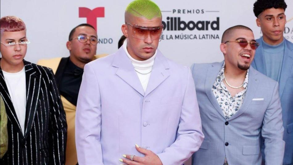 Las uñas de Bad Bunny que causan comentarios en los Latin Billboard 2019