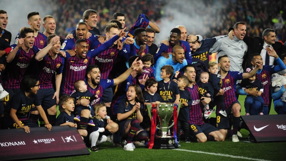 [VIDEO] Hijos de Arturo Vidal lo acompañan en su octavo título de liga consecutivo