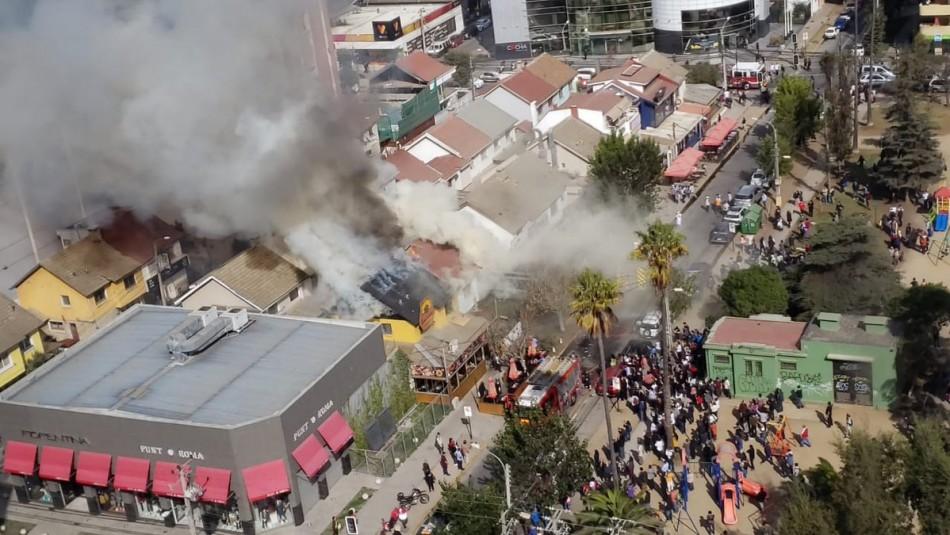 Incendio de Viña del Mar / Twitter: @BomberosRenaca