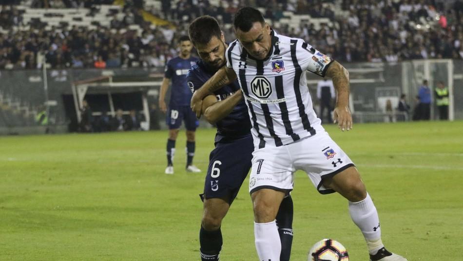 Colo Colo juega en el Monumental. / Agencia Uno