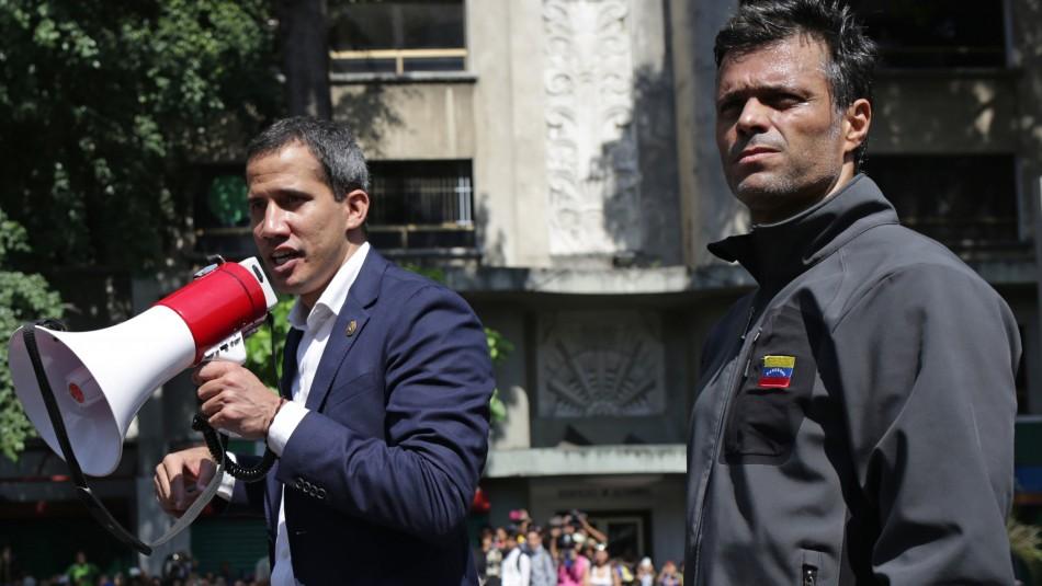 Juan Guaidó y Leopoldo López / AFP.