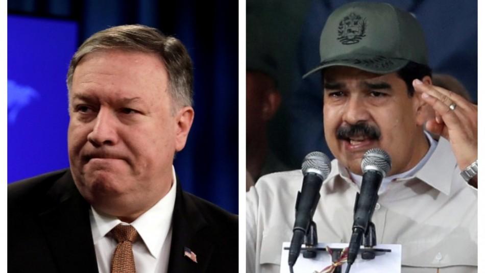 Pompeo y Maduro / AFP.
