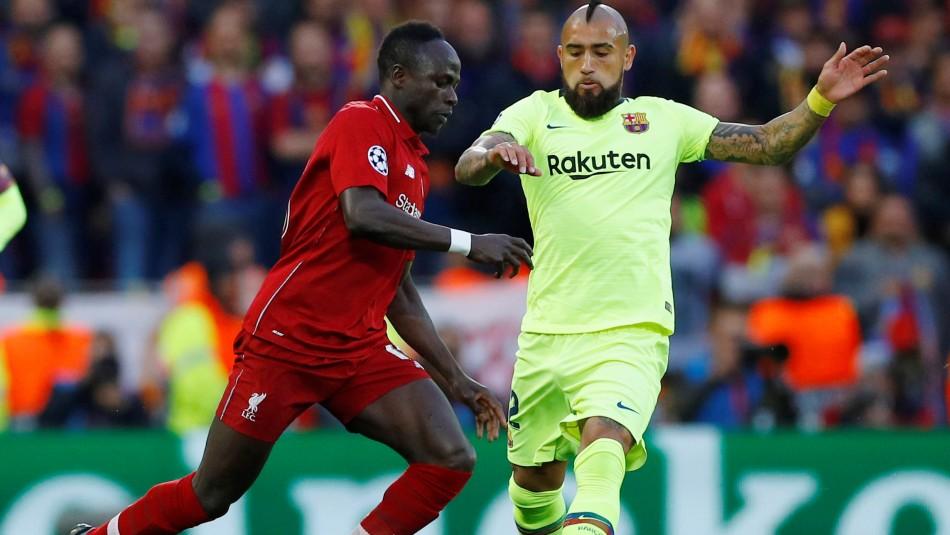 Arturo Vidal y Barcelona juega en Champions. / Reuters