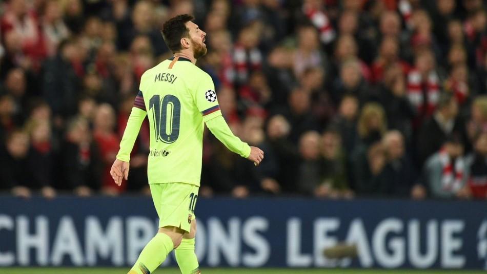 Messi la pasó mal en Liverpool. / Reuters