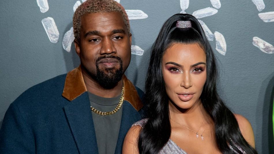Kim Kardashian y Kanye West/AFP