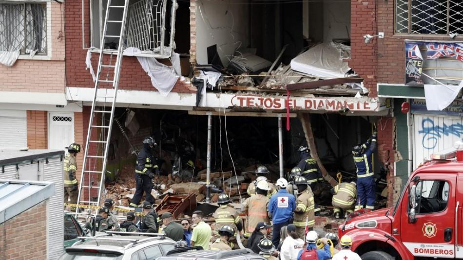 Explosión en fábrica colombiana / AFP