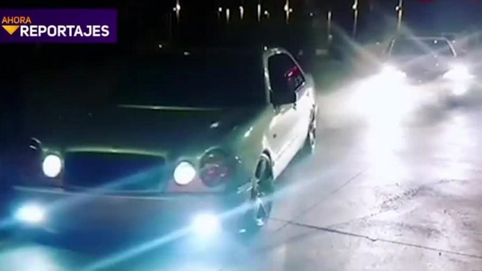 Peligrosas carreras clandestinas en autopistas