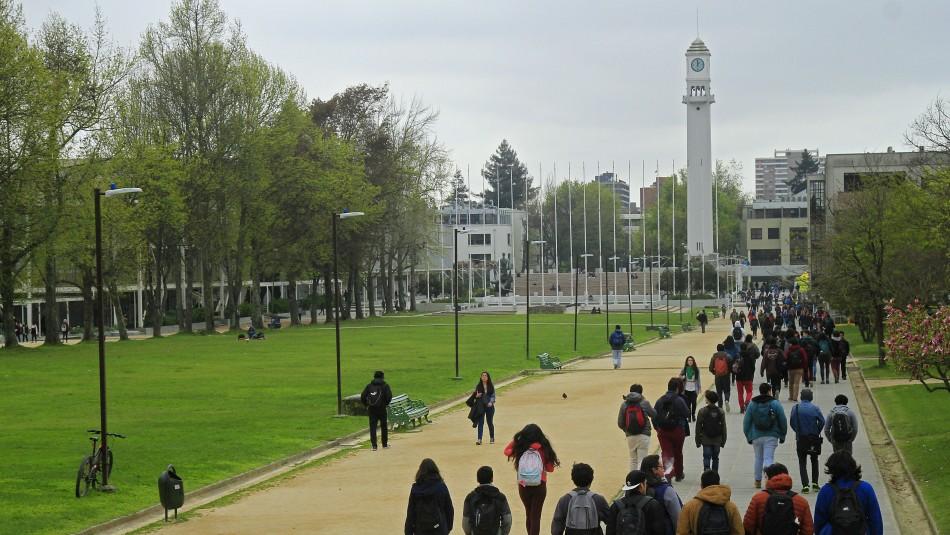 Campus central de la Universidad de Concepción / Agencia Uno