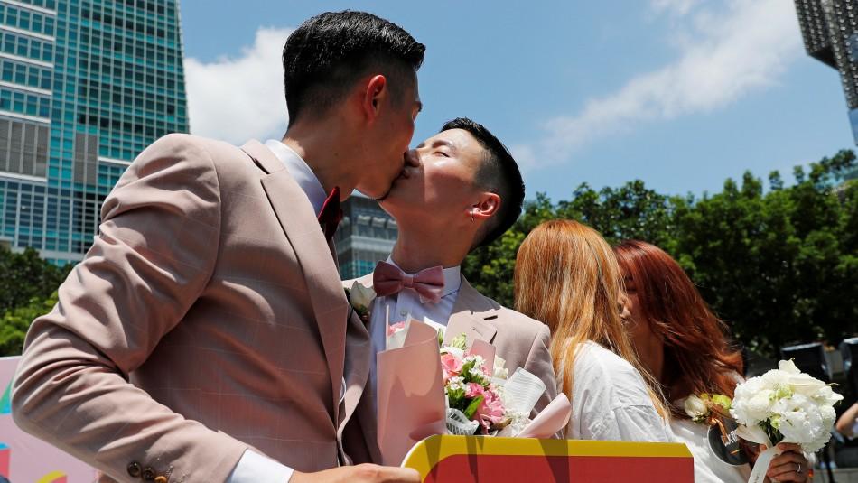 Taiwán concreta los primeros matrimonios homosexuales de Asia