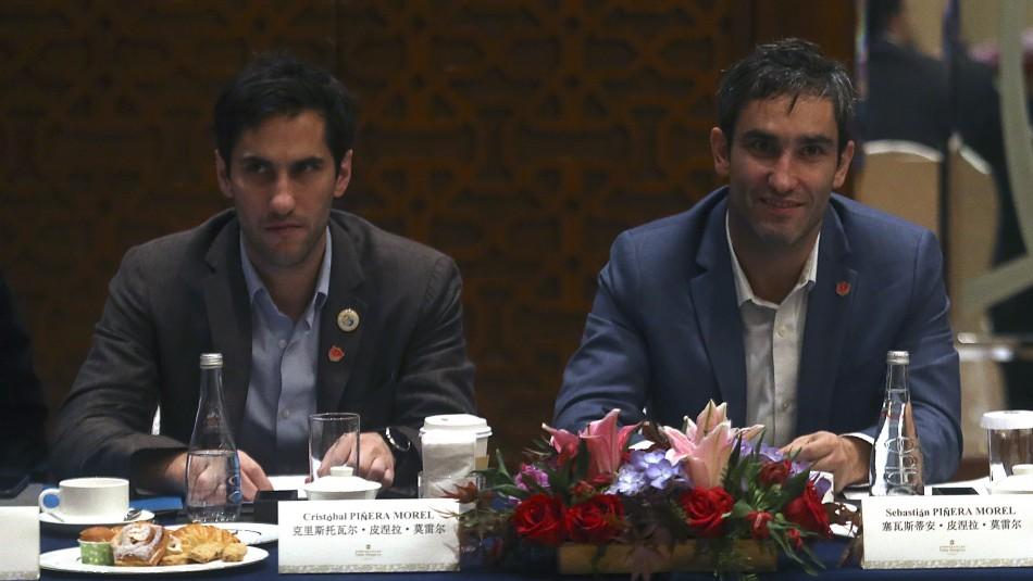 Cristóbal y Sebastián Piñera Morel / Agencia Uno