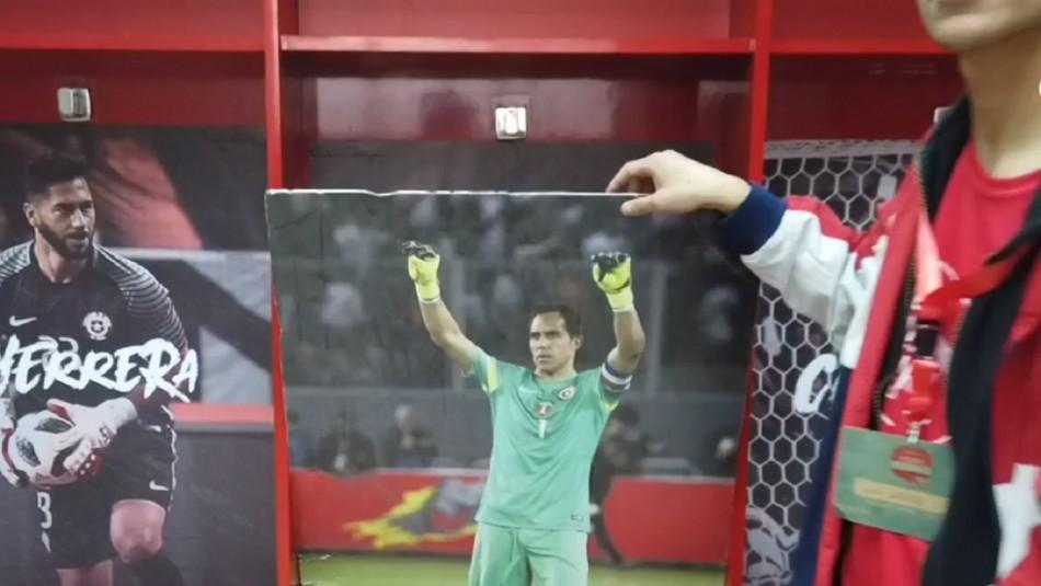 Imagen de Claudio Bravo no es parte del camarín de la Roja en el Estadio Nacional