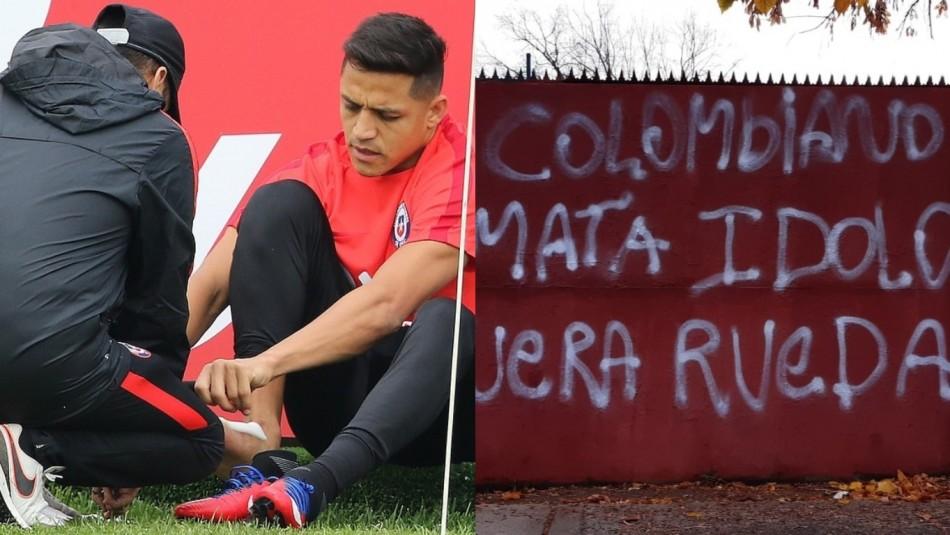 Alexis se unió a la Roja con molestias al tobillo. / Agencia Uno