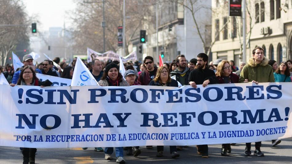 Este lunes comienza el Paro Nacional Indefinido del Colegio de Profesores / Agencia UNO.