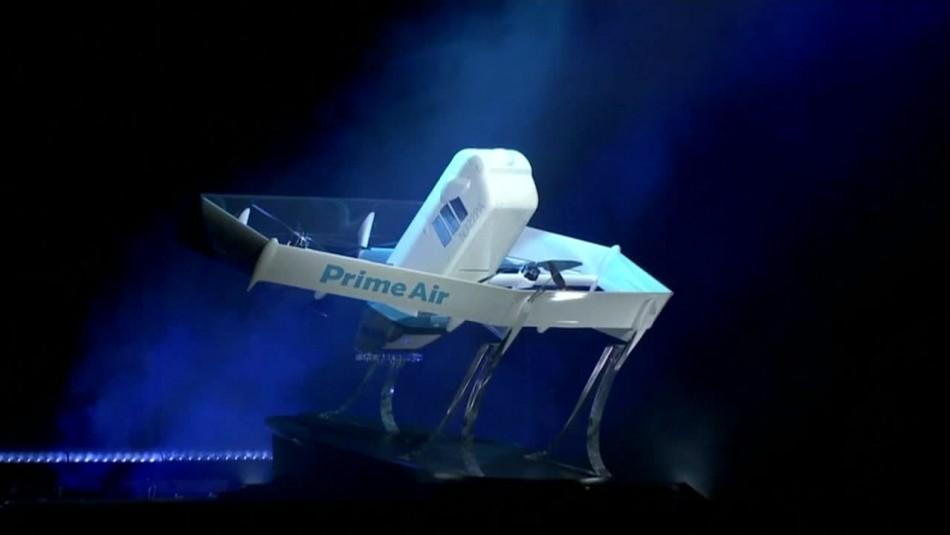 [VIDEO] Amazon presenta dron para hacer envíos a domicilio en menos de media hora