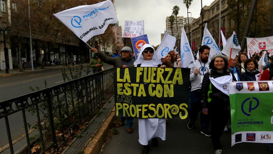 Marcha de profesores / Agencia Uno