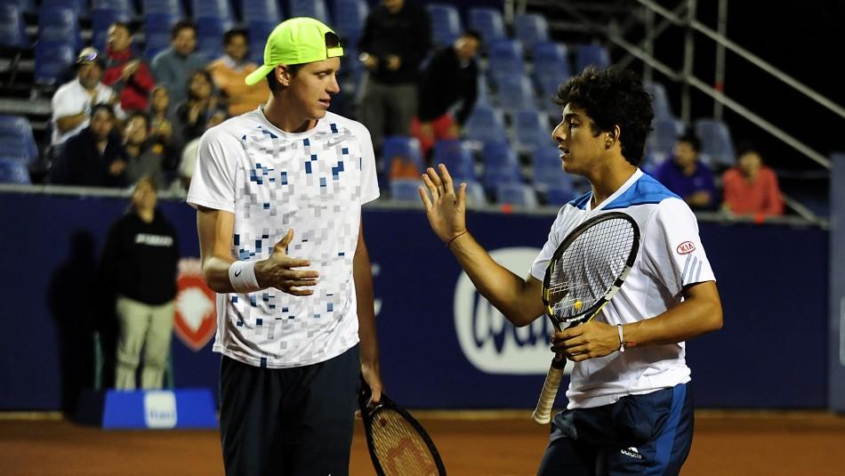 Nicolás Jarry y Cristian Garin / Agencia Uno