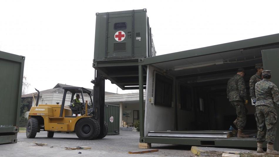 Comienza a operar módulo de campaña en Hospital San José