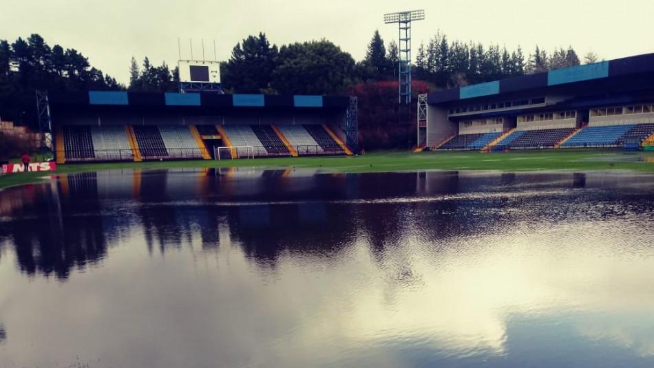 Así luce el estadio CAP. / @Temucooficial