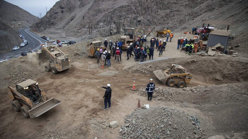 Rescate de mineros en Tocopilla / Agencia Uno