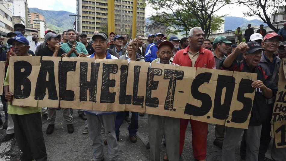 Michelle Bachelet llega a una Venezuela devastada por la crisis / Agencia AFP.