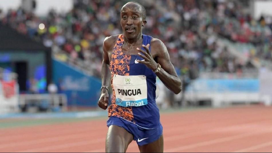 Edward Pingua el atleta que da que hablar por su edad. / AFP