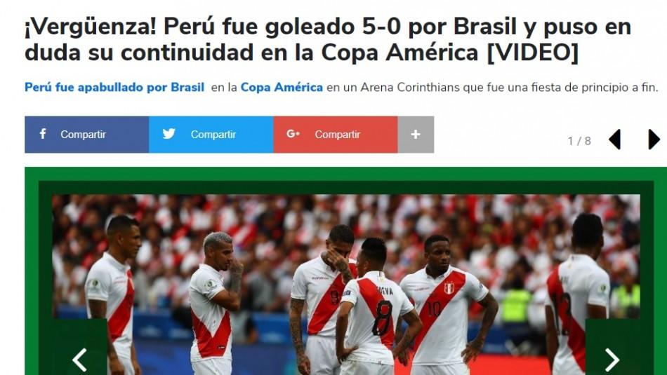 [FOTOS] Prensa de Perú habla de