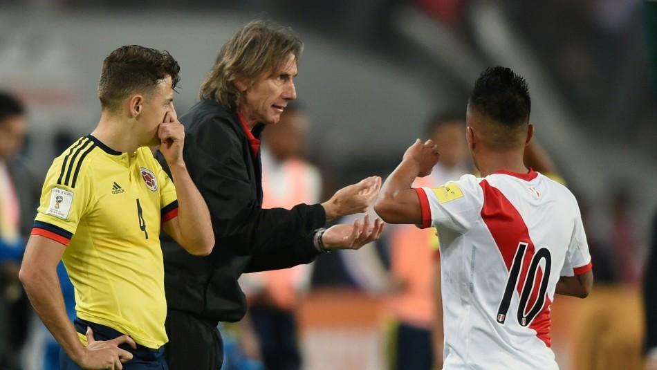 Perú vs. Colombia en 2017 / AFP