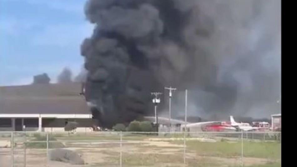 Accidente aéreo en Texas / Twitter