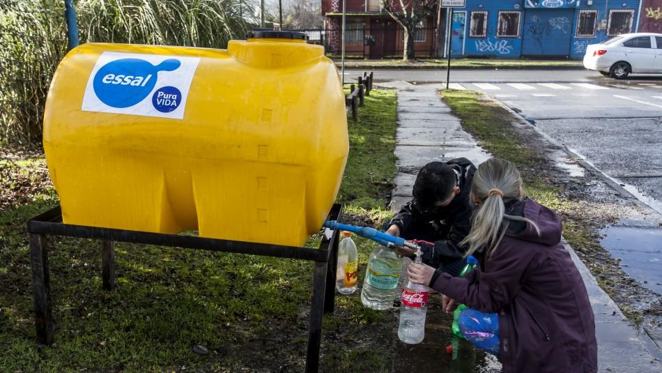 Essal mantiene corte de agua durante toda la noche en Osorno