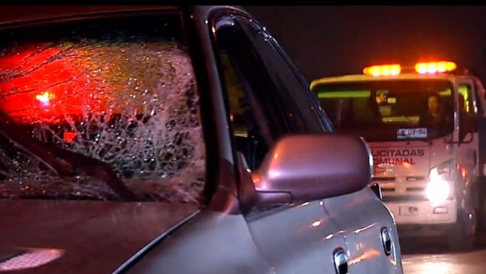 Accidente en carrera clandestina en Maipú: Auto atropella a ocho personas