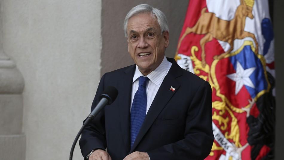 Piñera pide al Congreso no apoyar proyecto de las 40 horas por