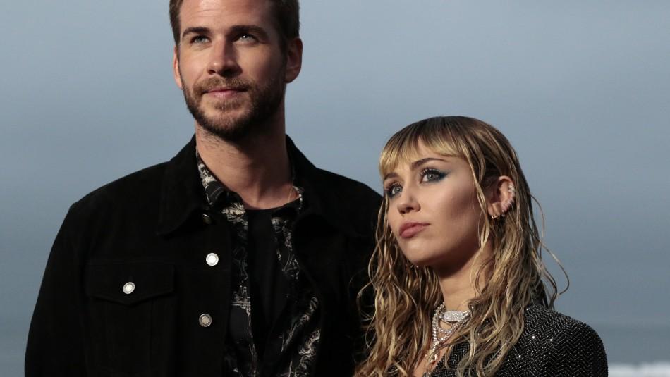 Confirman el fin de la relación amorosa entre Miley Cyrus y Liam Hemsworth