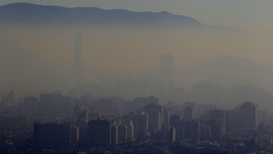 Declaran Preemergencia Ambiental para este miércoles en la Región Metropolitana