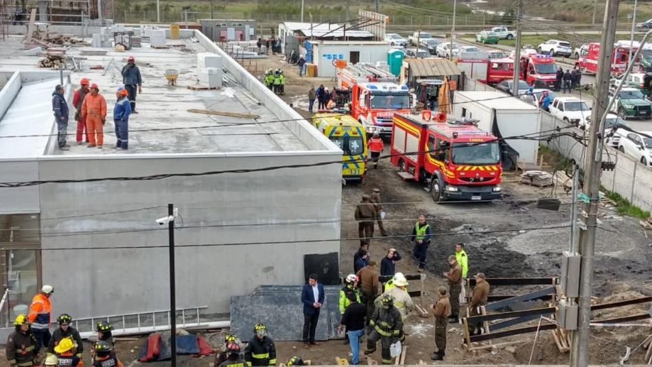 Derrumbe en construcción de Talcahuano deja una persona muerta