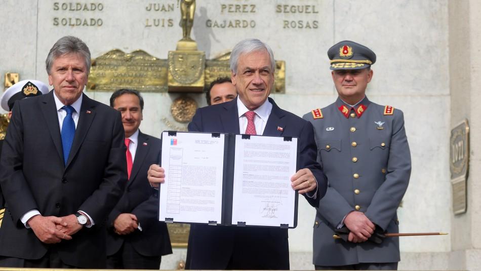 Piñera va la frontera norte para defender colaboración de las FFAA con las policías
