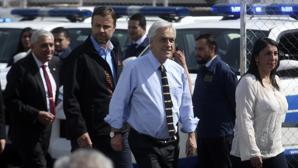 Piñera anuncia proyecto de ley anti encapuchados y pide aprobación urgente