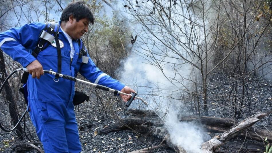 Evo Morales se suma a trabajos en incendio que afecta a zona cercana a la Amazonia
