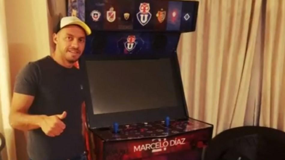 La máquina que posee Marcelo Díaz y que fue hecha por su primo.