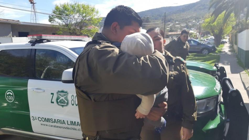 Carabineros rescata a bebé que había sido abandonado por su madre hace tres días