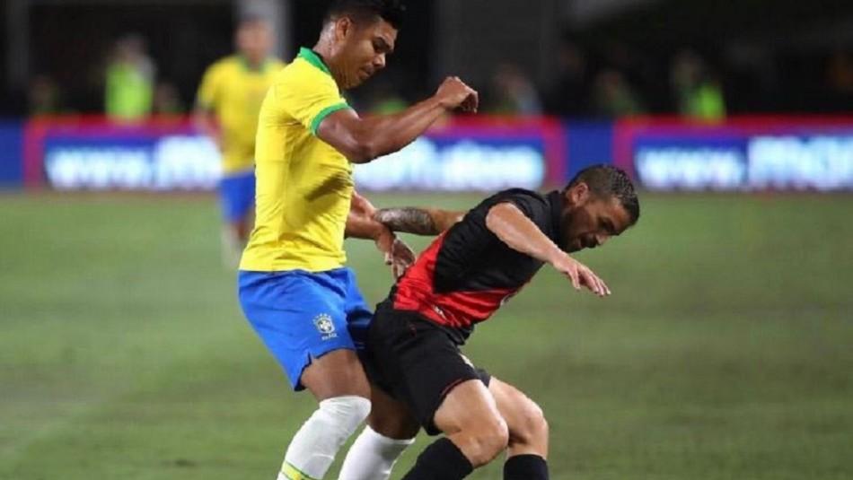 Delantero albo Gabriel Costa desata la locura en Perú tras triunfo sobre Brasil