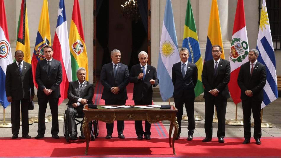 Piñera y representantes del Prosur firmarían reglamento en sede chilena ante la ONU