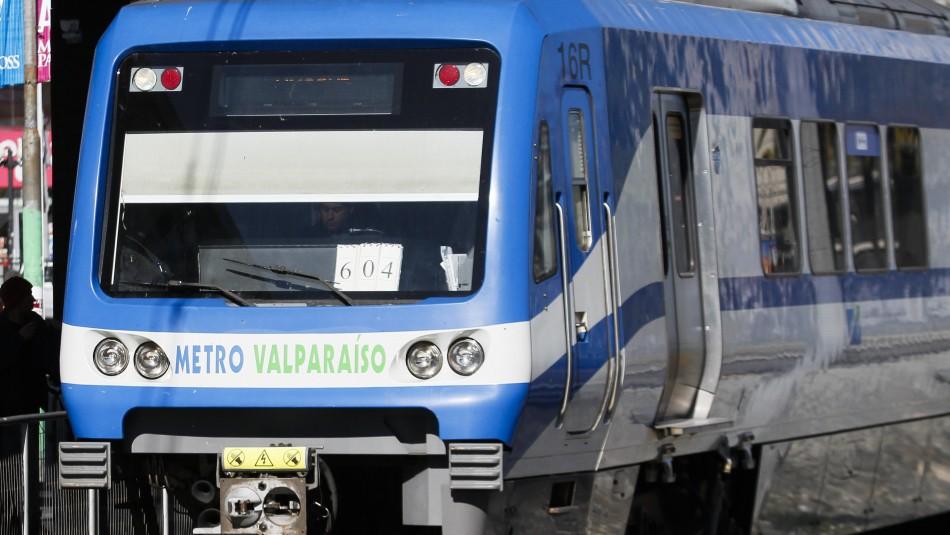 Metro de Valparaíso anuncia la suspensión de su servicio para este domingo