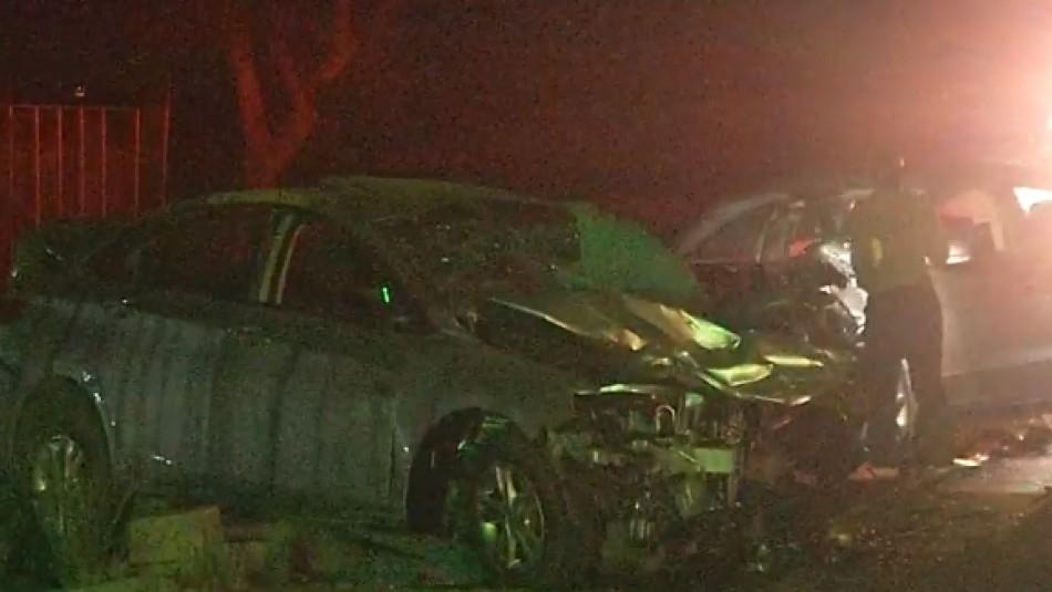 Identifican a las cinco víctimas fatales de accidente en Quilicura